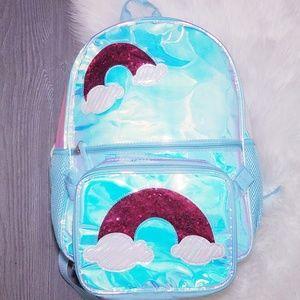 Handbags - New Iridescent Rainbow Backpack Hologram Clear
